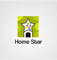 home star logo icon element and template vector image