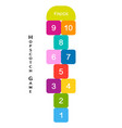 hopscotch game for your design vector image