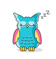 icon of sleeping owl isolated on white vector image vector image
