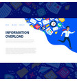 information overload concept horizontal template vector image vector image