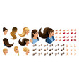 isometric create emotions character vector image vector image