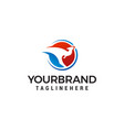 kangaroo logo design concept template vector image