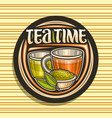 logo for tea time vector image