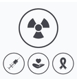 Medicine icons Syringe life radiation vector image vector image