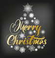 merry christmas calligraphy lettering text and vector image