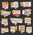 modern sale banners and labels collection 01 vector image