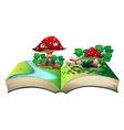 Mushroom popup book vector image vector image
