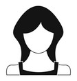 new woman user icon simple vector image