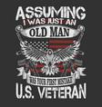 old man umerican veteran vector image vector image
