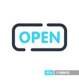 open icon on white background vector image vector image