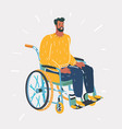 people with wheelchairs vector image vector image