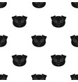 pig muzzle icon in black style isolated on white vector image