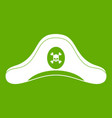 pirate hat icon green vector image vector image