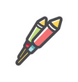 pyrotechnic rockets two firecrackers icon vector image