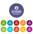 quality old winery icons set color vector image vector image