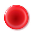 red shiny circle button for holiday and for vector image