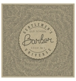 Retro badge for Barber Shop vector image vector image