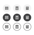 set 3 simple design calculator icons rounded vector image