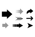 set arrow black icon arrow in flat style for your vector image