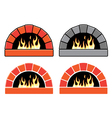 set of ovens vector image