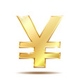 shiny golden yen currency symbol vector image vector image