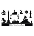 st petersburg city symbol set russia tourist vector image vector image