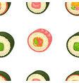 sushi rolls set sashimi seafood japanese food vector image