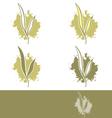 Tea Abstract Label Design vector image vector image