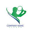tennis logo vector image vector image