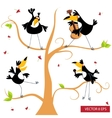 Toucan on a tree vector image vector image
