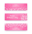 valentine day banner set pink love coupons with vector image