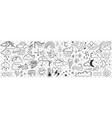 various weather conditions doodle set vector image