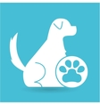 veterinary clinic concept paw dog vector image vector image