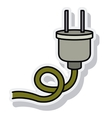 wire cable connection isolated icon vector image vector image