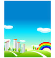 Green Landscape And buildings vector image