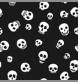 hand drawn skull seamless pattern vector image
