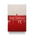 Realistic Christmas Gift Box top View vector image