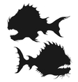 Sea monsters set vector image