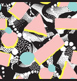 abstract blot seamless pattern dotted painting vector image vector image