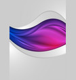 abstract bright wavy flyers landing page vector image vector image