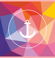 abstract colorful seamless polygonal pattern vector image