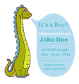 Baby Shower and Arrival Card - Dino Theme vector image vector image