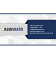 Blue corporate business card vector image vector image
