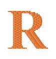 Brick letter vector image