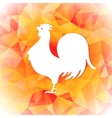 Bright polygon of a rooster Happy vector image