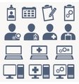 Business flat support icons blue icons vector image