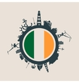 Cargo port relative silhouettes Ireland flag vector image vector image
