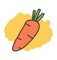 Cartoon doodle carrot vector image vector image