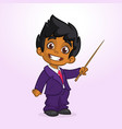 cartoon funny indian boy presenting vector image vector image