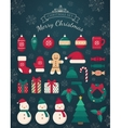 Christmas decorations and toys collection vector image